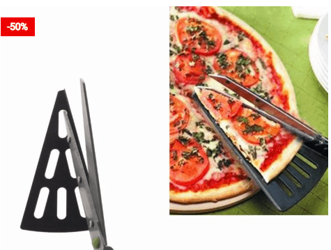 No Mess Pizza Cutter Slice And Serve Tool