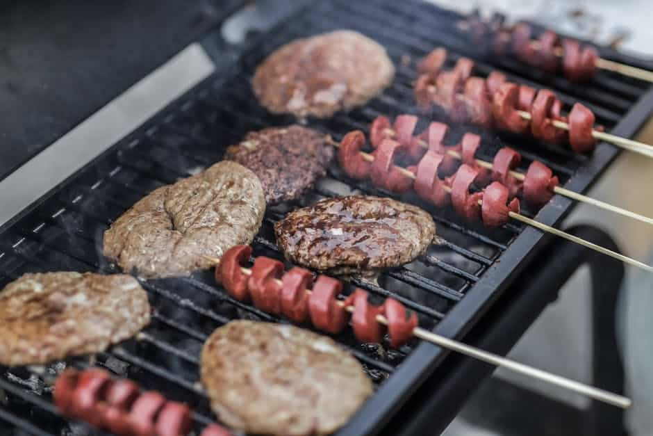 Food on a grill