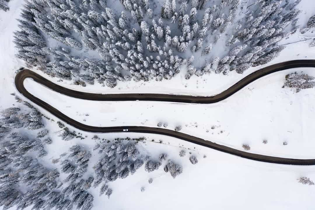 A close up of a snow covered ground
